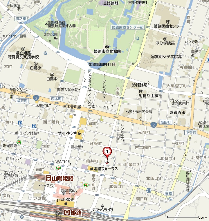 姫路駅前地図