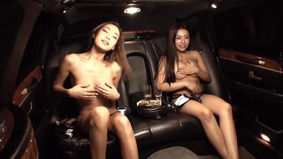 【エロ動画】ホロ酔い気分のギャルを高級リムジンに乗せてみたらカーセックスに発展したぁぁぁぁぁwwwwwww01_20160111042332d63.png