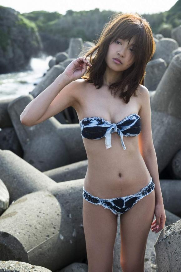 LINE BLOGで下着姿をUPしてくれた人気モデル松本愛ちゃんの激カワグラビア画像【30枚】04_20160212212320939.jpg