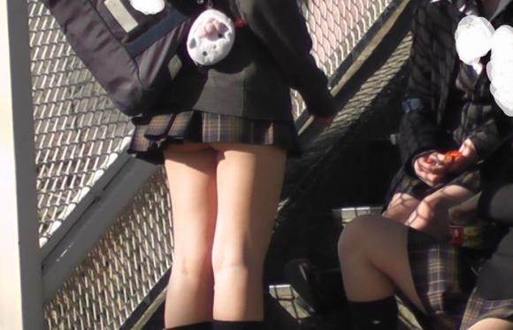 【チラリズム】JKのスカートが短すぎて尻肉チラリが街中で頻発してる件!wwwwwww【画像30枚】11_201606070149312c3.jpg
