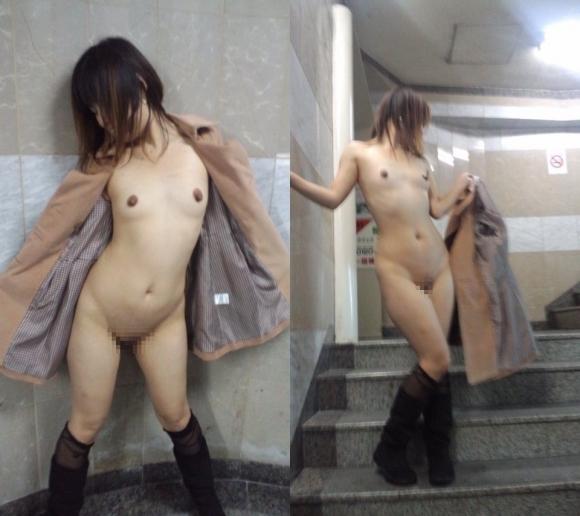 外寒いし見てるこっちが心配になってくる裸コートの露出狂女wwwwwww【画像30枚】30_20151218165719299.jpg