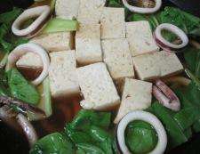 イカと豆腐の柚子こしょう煮 調理⑤
