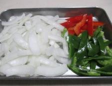 豚こまの柚子こしょう照り焼き 調理①