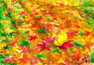 紅葉の陽光 11月も終わり 山縣有斗