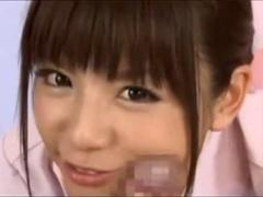 小嶋ジュンナが淫語満載でマンコアナル見せつけオナニー&ナースコスで手コキフェラ!