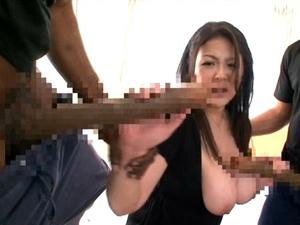 【櫻井夕樹】世界NO.1とNO.2の巨チンに同時に責められ白目でイキまくるLカップ爆乳痴女