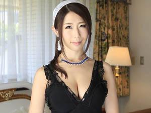 【篠田あゆみ】リモコンローターを仕込んで家事をしたり中出しSEXで下のお世話をする巨乳熟女メイド