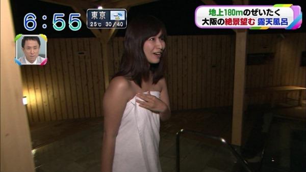 稲富菜穂の入浴前バスタオル姿画像13