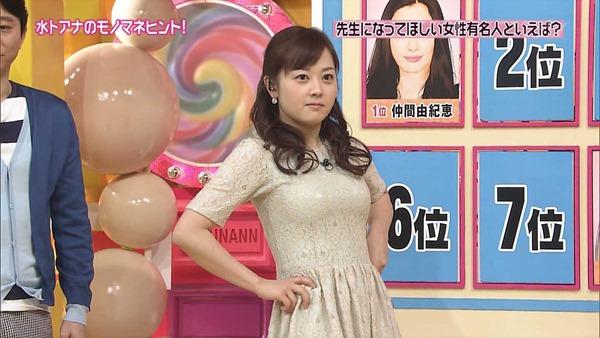水ト麻美アナのパンチラ胸チラ画像14