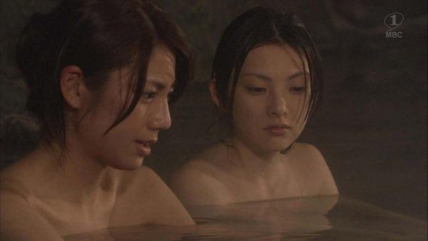 田中麗奈の入浴シーン胸の谷間グラビア乳画像2