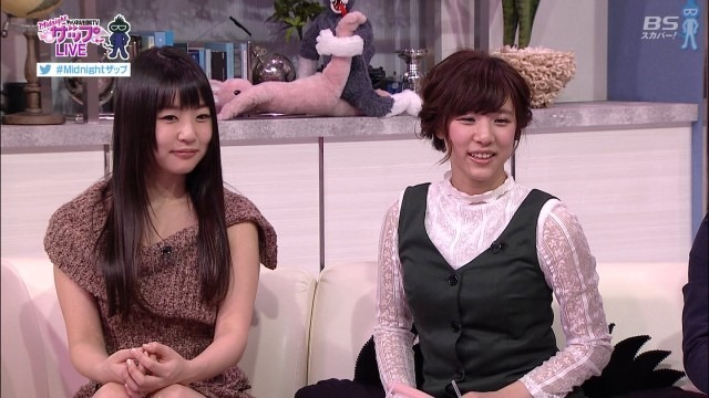 AV女優のつぼみの疑似フェラ着衣おっぱい鷲掴み画像1