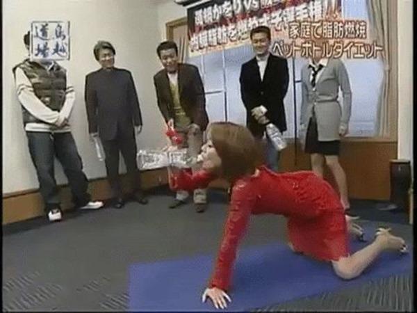西川先生の疑似フェラ腰振りエロGIF画像9