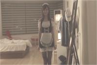 メイド服で迎えるピンキー