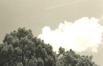 長崎上空にB29が原始爆弾を投下