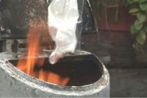 愛しの胡桃のパンツが焼却炉に・・