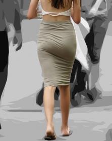豊満美尻のむちぴちタイトスカート