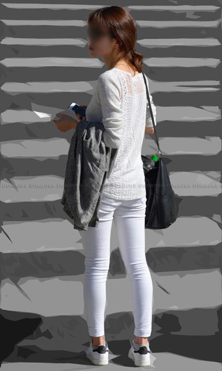 ■ ■ vol262-ヒップラインと食い込みが際立つむち尻ホワイトパンツ