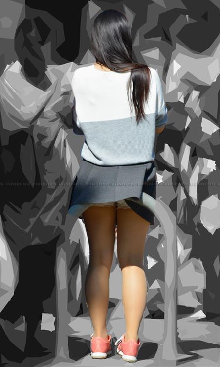 ■ ■ vol255-ナチュスト豊満美脚のミニスカひらひら見せPチラリ