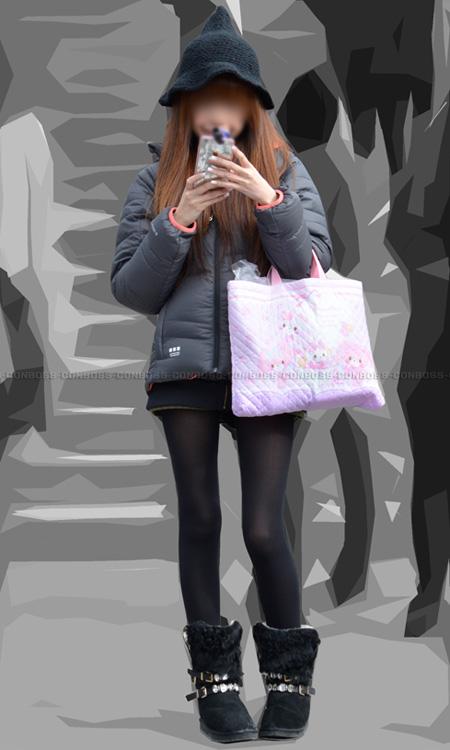 ■ ■vol256-むちむち美脚のお色気たっぷり黒タイツ