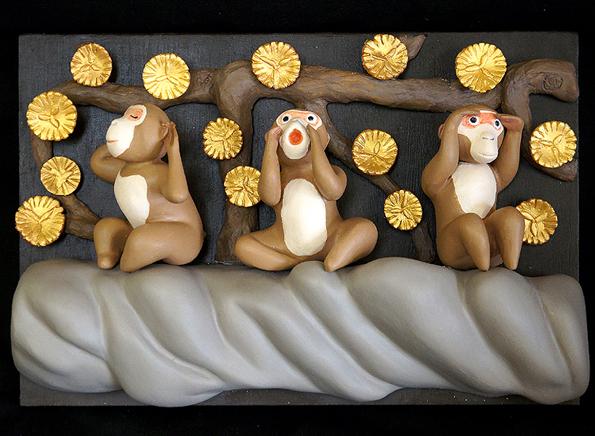 20151017 Three Wise Monkeys Year for Plate2016 21cm rgb DSC05269