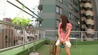 水嶋あい タテスジクッキリパイパン娘がビルの屋上で立ちオナニー