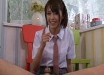 夏目優希 可愛い顔でオジサンのチンコを弄ぶ小悪魔女子校生
