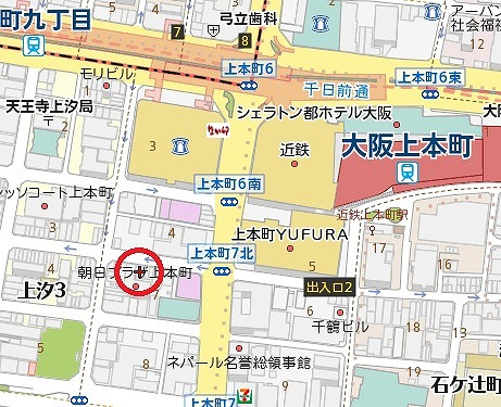 上六鈴屋ビル地図