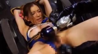女忍者ヒロイン電マ責め強制アクメ画像