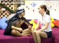 【韓国AV 無臭せい動画】adaruto 網タイツ姿の韓国美人女子大生の生ハメライブチャット!!
