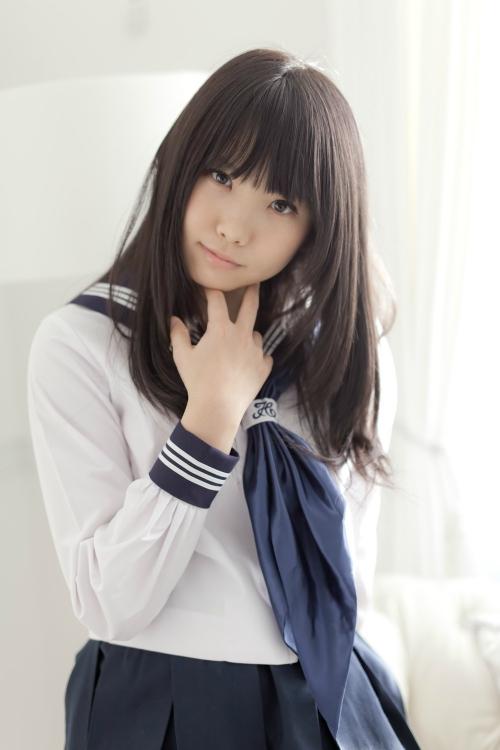 黒髪 美少女 画像 09