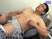 42歳177cm105kg巨根メガネ氏の穴感ディルドオナニー。