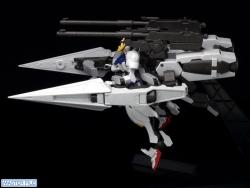 HG ガンダムバルバトス&長距離輸送ブースター クタン参型のテストショット03