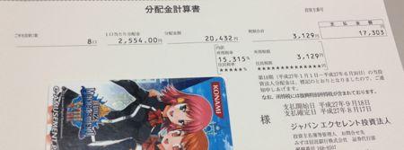 8987 ジャパンエクセレント投資法人 分配金
