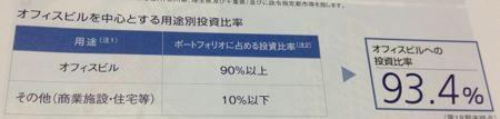 ジャパンエクセレント投資法人 実質オフィス中心リートです