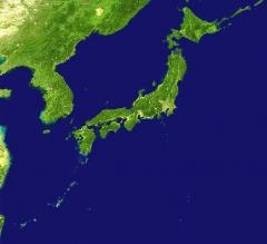 日本列島衛星写真