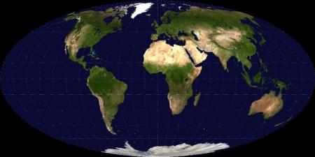 世界地図モルワイデ衛星画像