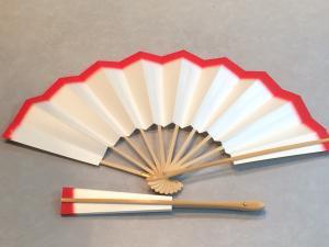 赤坂吉の家特製 天紅の扇子