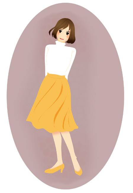 女性のイラスト ふんわりスカート