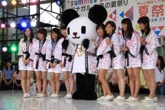 テレ朝夏祭り女子アナ画像画像1