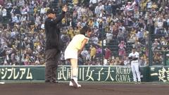 NMB48山本彩パンチラ始球式画像8