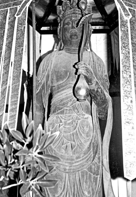 井戸寺・十一面観音立像(1972年撮影写真)