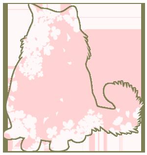 猫シルエット_桜