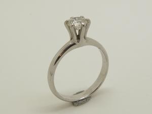 ダイヤの立爪リングBefore 8.23