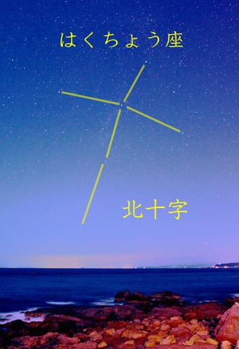 太平洋に沈む北十字2013年02月