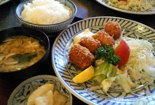 カニクリームコロッケ定食(27.11.6)