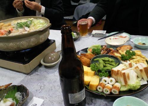 後援会懇親会お料理(27.11.13)