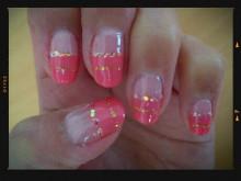 yumaのブログ-ピンクボーダーネイル