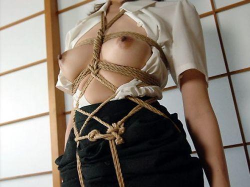 縄で緊縛されるのが大好きな変態女性達のSMエロ画像 39枚 No.31
