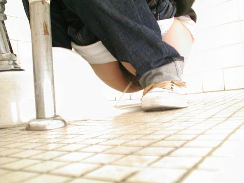 【画像】和式トイレで勢い良くお○っこを飛ばすお姉さんや陰毛がエロ過ぎる! 35枚 No.27