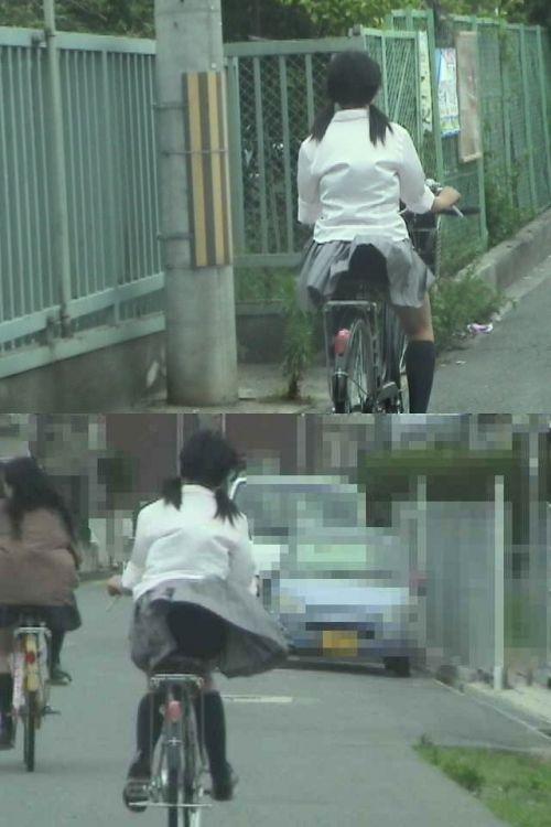 【盗撮】朝から爽やかにパンチラしちゃうJKの自転車通学画像 43枚 No.29